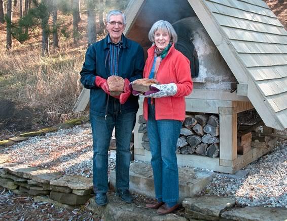 Byron Beeler and Anna Hobbs bake a traditional Nova Scotia brown bread.