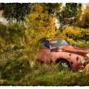 """Rosemary Hasner ~ Pretty in Pink mixed media photography 18.5 x 24.5"""""""