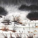 "Sheila Jack ~ Wye Marsh acrylic 30 x 40"""