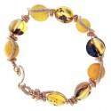 "Anne-Marie Warburton ~ Second Chance amber, gold wire 7"""