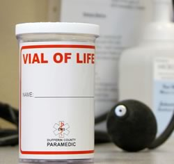 The Vial of Life is a pill-sized bottle that could save your life in a medical emergency.