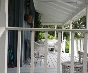 I am imagining many summers sitting on a big comfy wicker chair on her back porch, a glass of cold Chardonnay in hand.