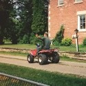 Even the sound of the old ATV holds a memory of him, puttering in on it from his little house next door every morning