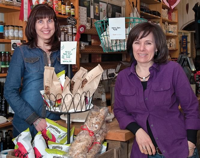 Creemore's 100-Mile Store, owned by Sandra Lackie and Jackie Durnford, now boasts 100 suppliers who provide more than 1,000 products from within a 100-mile radius. Photo by Rosemary Hasner / Black Dog Creative Arts.