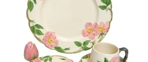 full eight-service setting of Franciscan Desert Rose china