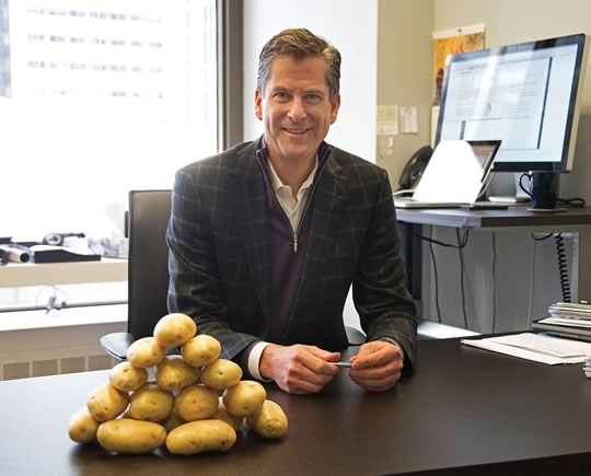 Tom Eisenhauer, president of Bonnefield Financial Inc., says that unlike hedge fund investors, his company's investors are looking for the kind of steady, long-term returns more typical of farmland. Photo by Pete Paterson.
