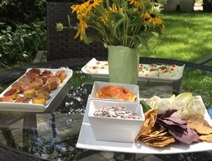 Dan and his incredible wife Heath prepared an amazing outdoor meal and the weather was divine.
