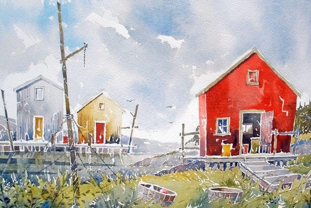 "Stonehurst, N.S., 14"" x 19"" ~ Douglas Brown"