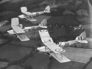 Tiger Moths 15 EFTS (Elementary Flight Training School). Courtesy Wings Museum UK.