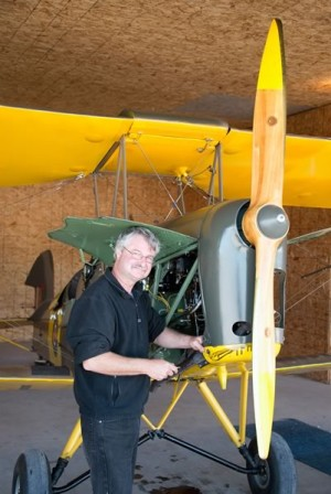 Beekeeper by day, Danny Garyfalakis will soon be certified as an aircraft maintenance engineer. Photo by Pete Paterson.