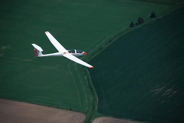 Former fighter pilot Jock Proudfoot, shown here in a tow plane, now pursues his passion for flight in his glider at the York Soaring Association.