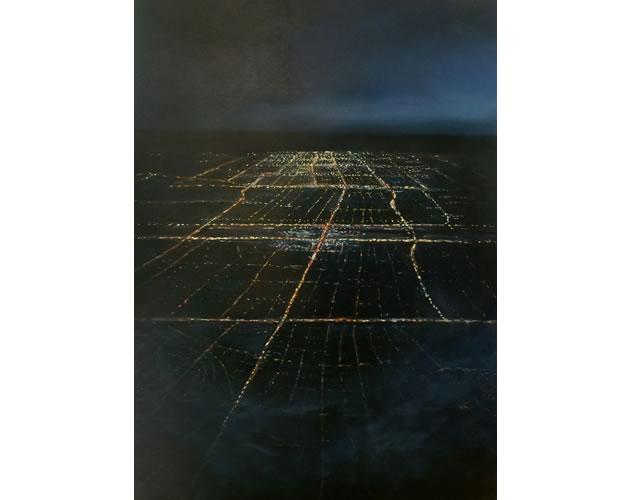 "Approach Shot, oil on wood, 36 x 48"" ~ Diana Hillman"