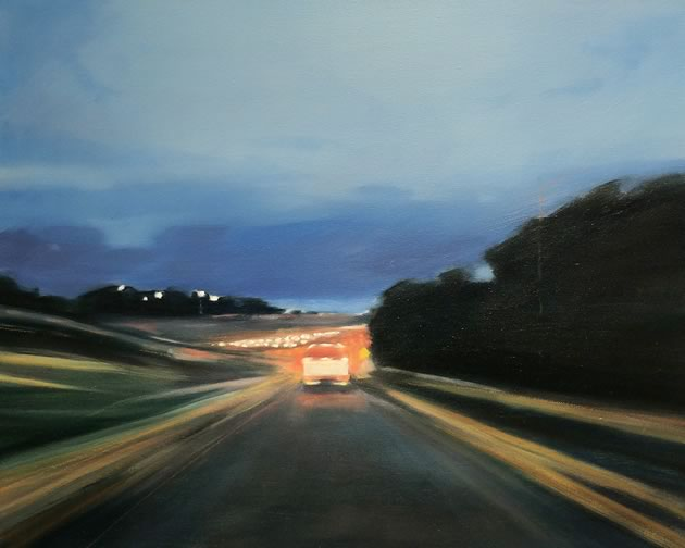 "On Ramp, oil on canvas, 16 x 20"" ~ Diana Hillman"