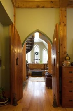 The church aisle now leads to a kitchen – divine in its own way. Photo by Pam Purves.