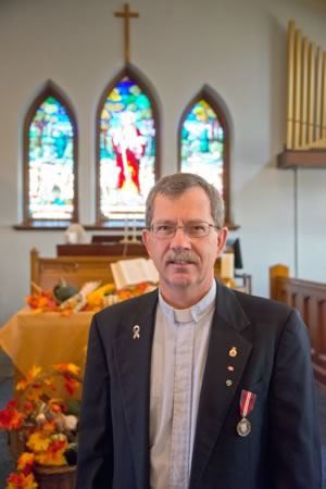 """Harvey Self. As minister of Tweedsmuir Memorial Presbyterian Church in Orangeville, he employs these traits – and more – to deliver what he calls a """"ministry of the present."""" Photo by Pete Paterson."""