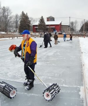 Ice crew volunteer Steve Hayward.