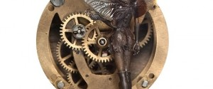 "Steam punk faery time machine (detail), 5"" x 5"". Photo by Rosemary Hasner / Black Dog Creative Arts."
