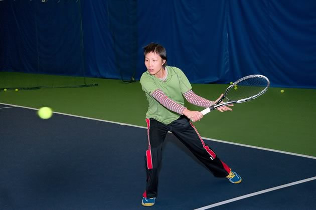 Joanna Phang is a pro at Headwaters Racquet Club and several of the region's outdoor clubs. Photo by Rosemary Hasner / Black Dog Creative Arts.