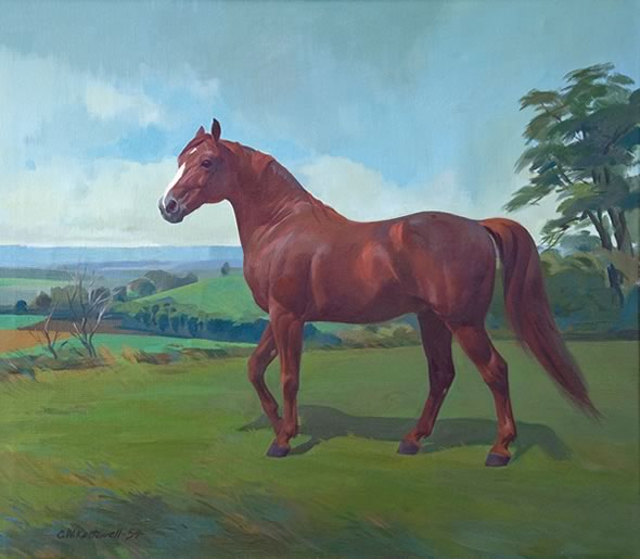 This painting is by Charles W. Kettlewell who painted Queen's Plate winners through the 1950s and '60s. This painting is by Charles W. Kettlewell who painted Queen's Plate winners through the 1950s and '60s.