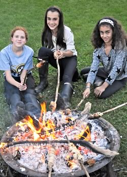 Nothing says summer in Canada quite like a campfire. Photo courtesy the Mansfield Outdoor Centre.