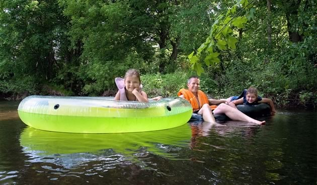 Ride a River - Go tubing in Inglewood. Photo by Rosemary Hasner / Black Dog Creative Arts.