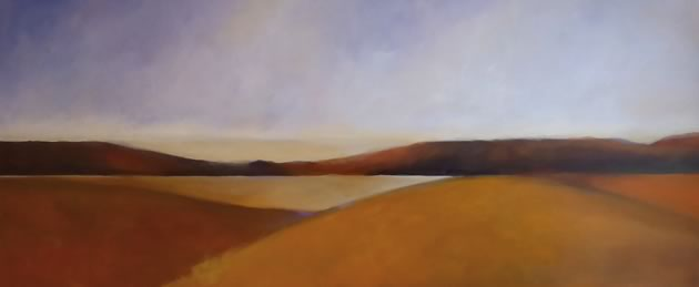 """Rolling Hills, 30 x 72"""" ~ John Adams"""