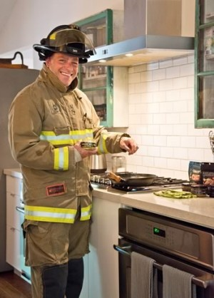 Firefighter Christian Horner is spicing up menus in the hills and beyond. Photo by Pete Paterson.