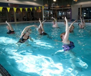 Aquafit classes at Caledon Centre for Recreation and Wellness help improve strength and balance. Photo by Rosemary Hasner / Black Dog Creative Arts.