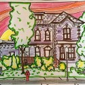 Colouring Contest, scenes from Erin Village — Win Your Own Copy Of Fantastic Cities!
