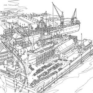 Images from Fantastic Cities: Great Lakes Shipyard.