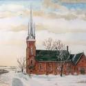 Claude Presbyterian Church in Caledon, by painter Z.R. Mech
