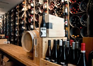 In the Hockley wine cellar, Adamo wines mingle with top bottles from around the world. Photo by Pete Paterson.