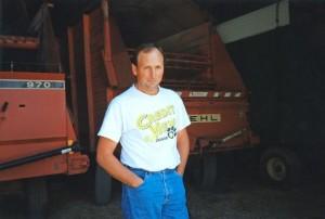 Hunter as a young farmer.