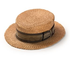 Boaters were first worn by men in the 1890s and soon became a seasonal harbinger, for they are a warm weather hat and their appearance at public events meant spring had arrived.
