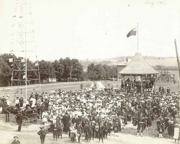 Boaters and Bowlers and Hats Galore: There was nary a bare head when the people of Orangeville turned out to celebrate the opening of Alexandra Park in 1903.