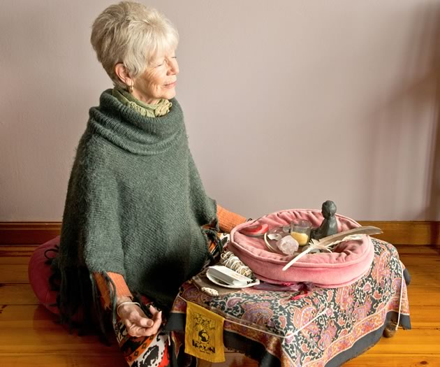Kay MacDuffee, 80, of Caledon has been taking time to meditate twice a day for about 15 years. The goal is to become grounded in the moment. Photo by Pete Paterson.