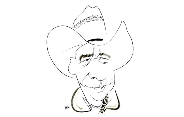 "Carl Cosack Cowboy, owner of Rawhide Adventures, Mulmur ""Our very own Marlboro man."""