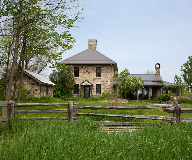 This historic stone house had been abandoned for 25 years before the current owners discovered and restored it. Photo by Pam Purves.