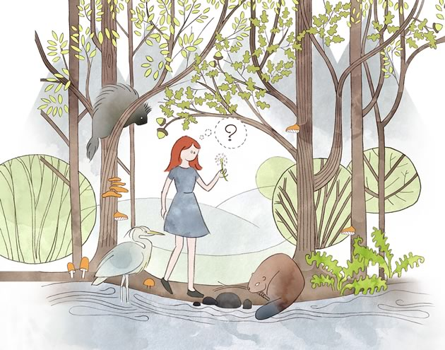 Without words, are we lost in the woods? Illustration by Kim van Oosterom.