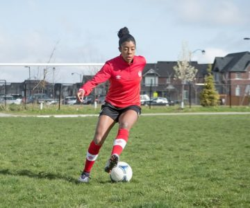 Caledon's Ashley Lawrence will be competing on the Canadian women's soccer team in Rio this summer. Photo by Erin Fitzgibbon.