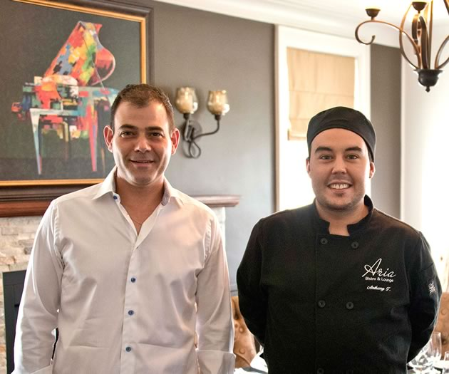 Aria Bistro owner Michael Cherry (left) and chef Anthony Trenton. Photo by Pete Paterson.