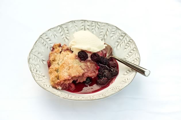 Laura Ryan's Bumbleberry Pie. Photo by Pete Paterson.