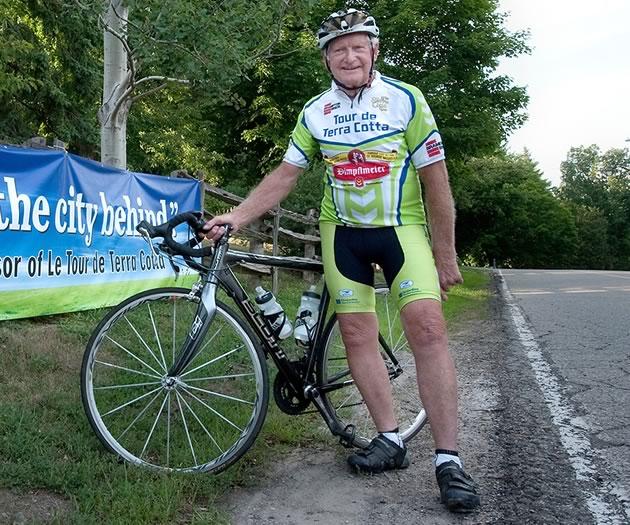 Ted Webb, an avid cyclist, founded Le Tour de Terra Cotta. Photo by Rosemary Hasner / Black Dog Creative Arts.