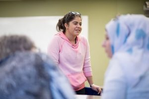 Helin Huseyin Allosh, a 16-year-old high school student living in Shelburne with her family, attends English as a Second Language classes at the Alliston Learning Centre and often helps translate for other Syrians. Photo by James MacDonald.