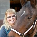 Debra Moore, cancer warrior on horseback. Photo by Pete Paterson.