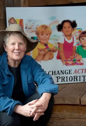 Liz Armstrong, climate activist. Photo by Pete Paterson.