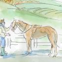 Admit there's a problem. You bought the horse years ago for a ten-year-old daughter who swore she would brush it every day and lavish it with affection. That was before she discovered boys, clothes, makeup and Facebook. Illustration by Shelagh Armstrong.
