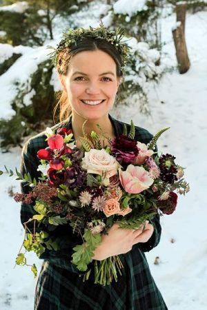 Bride Laura Wiesen on her wedding day. Photo by Anna Wiesen.