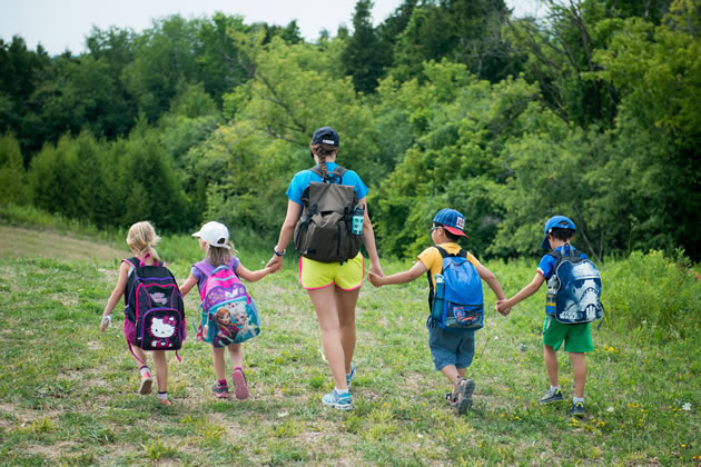 Hiking through a section of the Oak Ridges Moraine is a highlight of the YMCA's summer camp at Cedar Glen. Photo courtesy YMCA Cedar Glen Outdoor Centre.