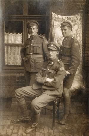 Christopher George Cook (left) served as a machine gunner in WWI.